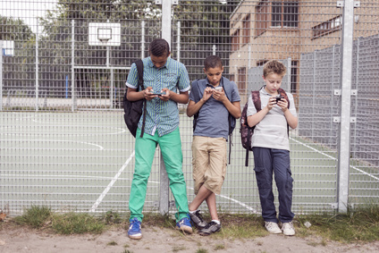 What can contribute to the development of social media addiction among  children?
