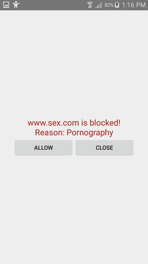 Blocking adult sites
