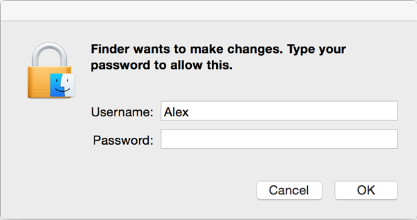 Enter your password to delete Teentor for Mac OS